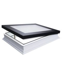 "FAKRO DMF DU6 3636 Manual Vent Deck Mount Skylight 3x-Glazed 36""x36"""
