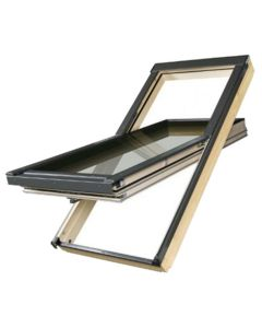 "FAKRO FTT U6 3055 Deck Mount Cen-Pivot Roof Window 3x-Glazed 30""x55"""