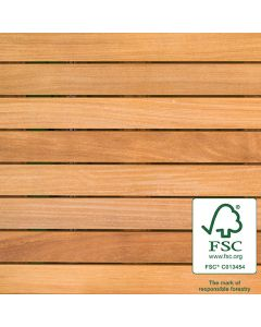 Bison WTFSCCUMARU24 FSC Cumaru Wood Tile Smooth 2'x2' 8-Plank