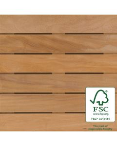 Bison WTFSCGARABA24 FSC Garapa Wood Tile Smooth 2'x2' 8-Plank