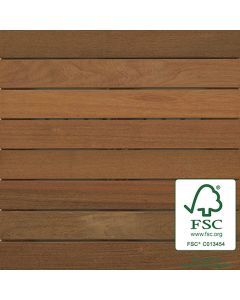 Bison WTFSCIPE24 FSC Ipe Wood Tile Smooth 2'x2' 8-Plank