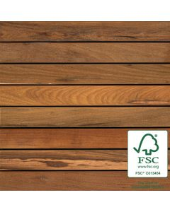 Bison WTFSCIPEAB24 FSC Ipe AB Wood Tile Smooth 2'x2' 8-Plank