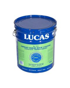 Lucas 714 Asphalt Liquid Roof Coating Premium Fibrated 5 Gallon