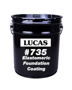 Lucas 735 Elastomeric Foundation Coating 5 Gallon