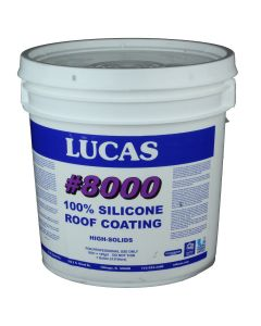 Lucas 8000 100 Percent Silicone Roof Coating 1 Gallon White