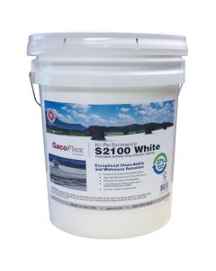 Gaco Flex S2100 Silicone Roof Coating Cleanable 5 Gallon White