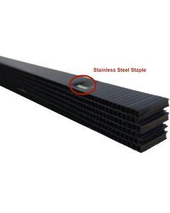 """Cor-A-Vent PS-400SSBLK Stainless Staple Soffit Strip Vent 3/4""""x1""""x4' 48ct Black Coravent"""