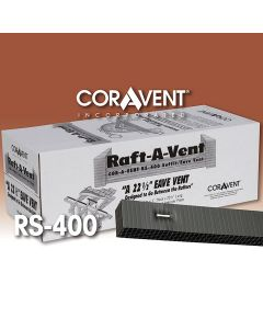 "Cor-A-Vent RS-400BLK Raft-A-Vent 1""x1.5""x22.5"" Black 48ct Coravent"