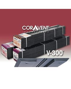 """Cor-A-Vent V-300-8 Ridge Vent 5/8""""x8-1/2""""x4' 12ct Coravent"""