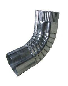 Lakefront 4 Inch Round 75 Degree No.3 Galvanized Steel Elbow Corrugated