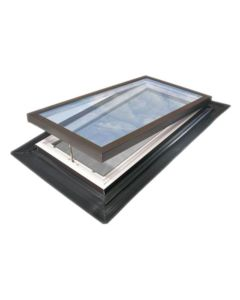 "VELUX EV 4646 2008 Skylight Deck Mount Fresh Air Low E Self Flashed Thermal Pane White 46 1/2""x46 1/2"""
