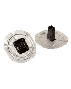 "GAF 459U DrillTec Coated Base Sheet Fastener With Plate 1.20"" 1000ct"