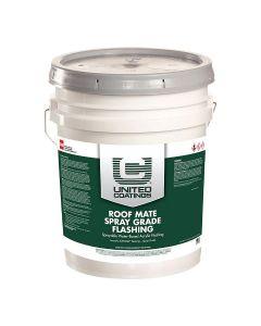 GAF 890204345 Elastuff 120B Spray Grade Flashing 5 gallon Gray