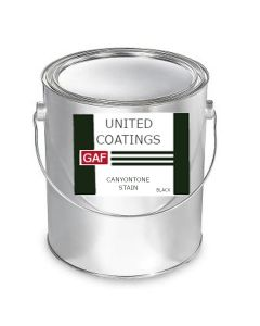GAF 8912 CanyonTone Stain 1 gallon Black