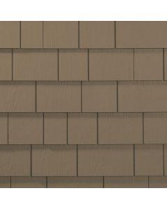 "James Hardie HardieShingle Fiber Cement Straight Siding 15.25""x48"" Woodstock Brown 1pc"