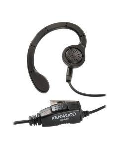 Kenwood KHS31C Radio C Ring Ear Hanger Inline PTT Mic for KHS31