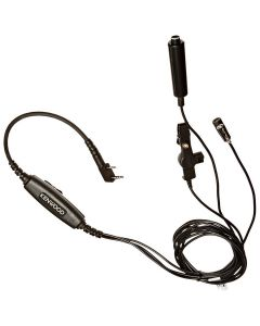 Kenwood KHS9BL Radio Earpiece Three Wire Lapel Mic