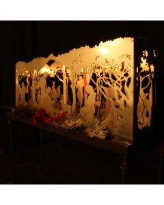 Nativity Scene Custom Metal Candle Box