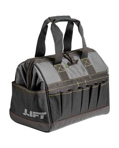 "LIFT ACW6Y Wide Open Tool Bag Polyester 12"" Gatemouth Black"