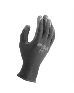 LIFT G15PCLKL Crinkle Latex Glove Large Black 12ct