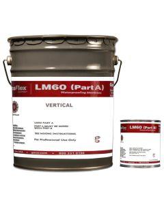 Gaco LM60 Membrane Kit A+B Vertical 4 Gallon Black