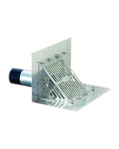 "OMG SCUPRD6 OlyFlow Aluminum Scupper RetroDrain 6"""