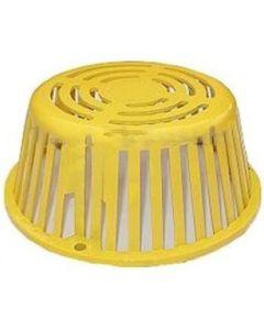 Portals Plus 67111 Roof Drain Plastic Dome Strainer Yellow