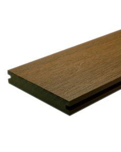 "NewTechWood US01-16-N-TK UltraShield Naturale Magellan Groove Composite Decking Board 1""x5.5""x16' Peruvian Teak 1pc"