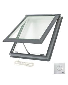 "VELUX VSE C01 2004 Skylight Electric Deck Mount Fresh Air Low E 21""x26 7/8"""
