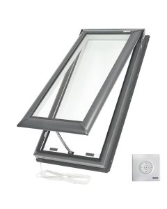 "VELUX VSE C08 2104 Skylight Electric Deck Mount Fresh Air Low E Copper 21""x54 7/16"""