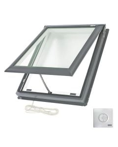 "VELUX VSE M04 2104 Skylight Electric Deck Mount Fresh Air Low E Copper 30 1/16""x37 7/8"""