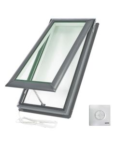 "VELUX VSE M06 2104 Skylight Electric Deck Mount Fresh Air Low E Copper 30 1/16""x45 3/4"""
