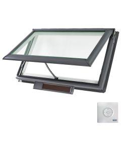 "VELUX VSS S01 0004 Skylight Solar Deck Mount Fresh Air Low E Stain Grade Wood 44 1/4""x26 7/8"""