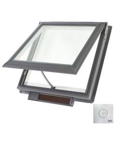 "VELUX VSS S06 0004 Skylight Solar Deck Mount Fresh Air Low E Stain Grade Wood 44 1/4""x45 3/4"""