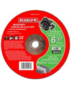 "Diablo Masonry Cut Off Abrasive Wheel 6 1/2""x1/8"""