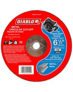 "Diablo Metal Cut Off Abrasive Wheel 6 1/2""x1/8"""
