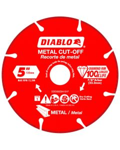 "Diablo Diamond Disc Metal Cut Off Wheel 5"""