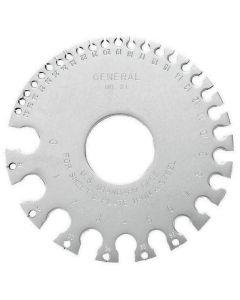 GENERAL 21 Sheet Metal Gauge
