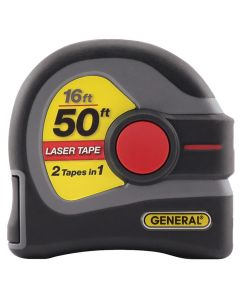 GENERAL LTM1 2-in-1 16' Tape and 50' Laser Measure