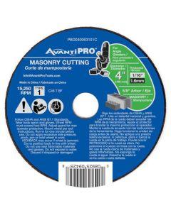 "Avanti Masonry Cut Off Abrasive Wheel 4""x1/16"""