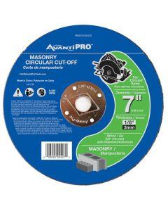 "Avanti Masonry Cut Off Abrasive Wheel 7""x1/8"""