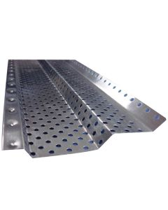 """US Aluminum 5SF4SD Shur Flo Step Down Gutter Protection Mill Finish 5""""x4' 50ct"""