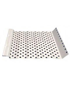 "US Aluminum 7SF4XWHT Shur Flo Gutter Protection White 7""x4' 50ct"