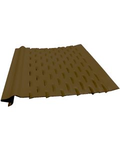"""US Aluminum LS5RB Leaf Shelter Gutter Protection Royal Brown 5""""x4' 25ct"""