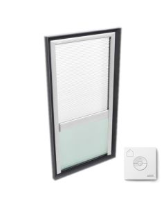 """VELUX FCM 2246 2004FS00X Skylight with Accessory Tray and Solar-X Blinds 22 1/2""""x46 1/2"""" White"""