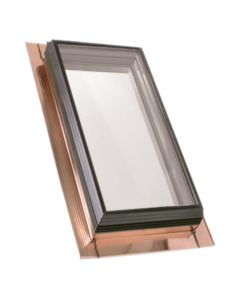 "VELUX QFT 2245 2075T Skylight Fixed Pan Flashed Tempered Low E2 22.5""x45.5"" Copper"