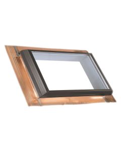 "VELUX QFT 4522 2075T Skylight Fixed Pan Flashed Tempered Low E2 45.5""x22.5"" Copper"