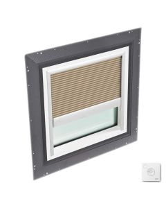 """VELUX QPF 4646 2005FS32X Skylight Pan Flashed with Solar-X Blinds 46 1/2""""x46 1/2"""" Lovely Latte"""