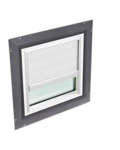 """VELUX QPF 4646 2005PA00 Skylight Pan Flashed with Blinds Venetian 46 1/2""""x46 1/2"""" Eggshell White"""
