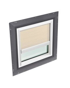 """VELUX QPF 4646 2006CH01 Skylight Pan Flashed with Blinds 2x Pleated 46 1/2""""x46 1/2"""" Beige"""
